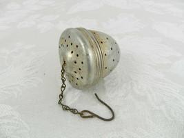"Vintage Acorn Tea Ball Infuser 2"" Dia. x 2.25"" H Large Metal - $14.84"