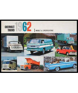 1962 Chevrolet Truck Models & Specifications Brochure - $10.18