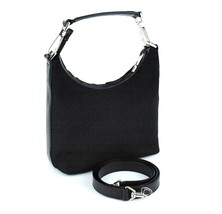 Auth GUCCI Black Nylon & Leather Small 2 way Shoulder Bag Handbag Purse ... - $137.61