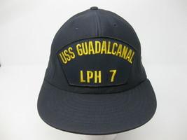 USS Guadalcanal LPH-7 - Vintage Snapback Hat Cap Trucker - New Unworn Navy - $27.71