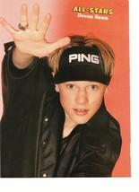 Devon Sawa teen magazine pinup clipping ping hat All-Stars rare black jacket