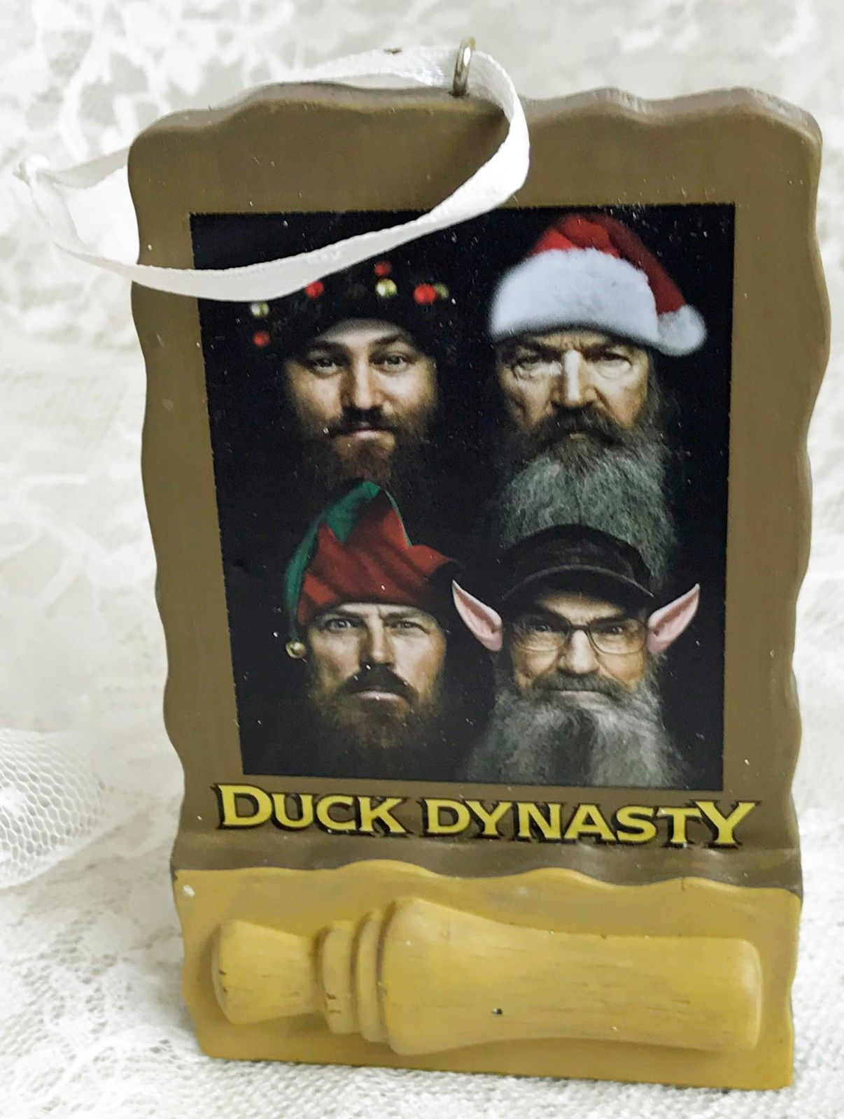 Primary image for 2014 Hallmark Duck Dynasty Christmas Tree Ornament Happy Happy Happy Holidays