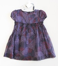 Burberry Children Infant 12 M Dress Coralie Purple Black NWT Pink Lavender - $173.22