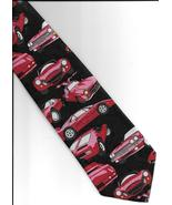 A Rogers San Francisco Sport Cars Necktie adult black red pink poly  - $21.77