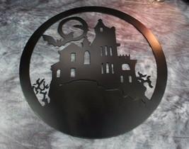 "Haunted House  metal wall art Satin Black 30"" - $74.99"