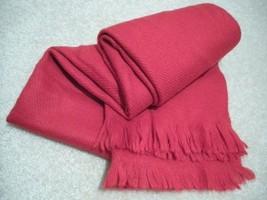Winter Scarf Neck Warmer Muffler - Red Wool Rayon & Acrylic - 52 X 13 - ... - $6.99