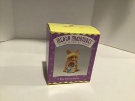 Hallmark Merry Miniatures - Blue-Ribbon Bunny - QSM8064 - 1996 - Mint - $2.95