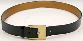 Michael Kors Women's Black Patent Synthetic Signature Logo Belt Sz Xlarg... - $47.49