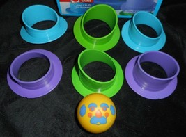 Vintage 1986 Mattel Airhead Game Replacement Blue Purple Part Pieces & Face Ball - $10.76