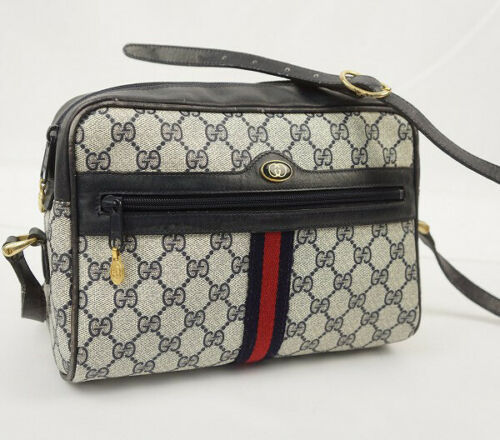 Auth Gucci GG Supreme Shoulder Bag Multi Accessory Collection Sherry Line G242