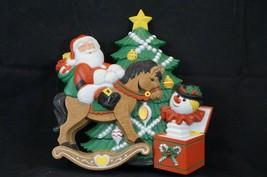 Vintage 1990 Burwood Products Wall Decor Hanging Christmas Santa Made US... - $7.38
