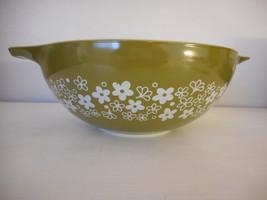 Vintage Pyrex Spring Blossom Crazy Daisy 4 qt Cinderella bowl 444 - $34.64