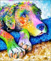 Dog Art Print - Labrador Retriever Art - Pop Ar... - $13.99