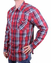NEW LEVI'S MEN'S CLASSIC COTTON CASUAL BUTTON UP LONG SLEEVE PLAID RED 3LYLW1262 image 2