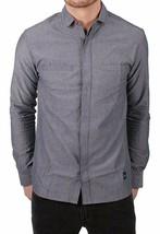 Akomplice VSOP Clean Patrick Long Sleeve Charcoal Grey Button Up Down Shirt NWT