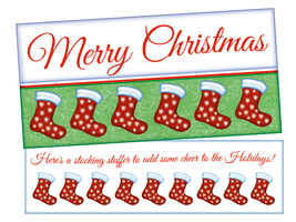 A Stocking Stuffer ~ Christmas Holiday Gift Card or Money Holder - $5.00