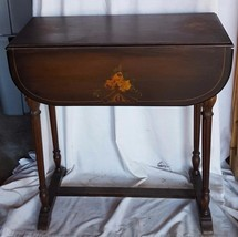 Wonderful Antique Victorian Drop Leaf Table - VGC PRETTY PAINTED YELLOW ... - $168.29