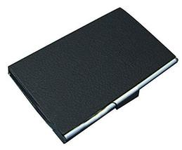 Creative Business Card Case Fashion Men And Women Leather Black