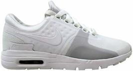 Nike Air Max Zero White/White-Pure Platinum 857661-104 Women's Size 8 - $117.00
