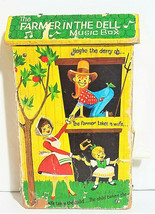 Vintage 1962 Fisher Price Farmer In The Dell Music Box #763 ( VERY RARE ) - $30.95