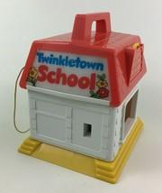 Twinkletown School Building Light up Bell Key Toy Matchbox Vintage 1984 80s Toys - $22.23