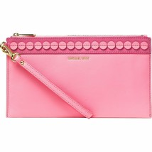 NEW! Michael Kors ANALISE Large Zipper Clutch Genuine Leather - $168.18