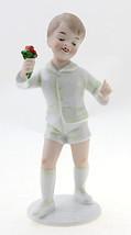 Wallendorf Boy Figurine with Flower German Porcelain - $71.78