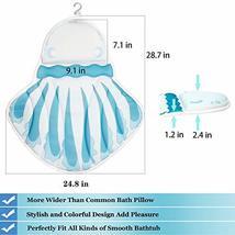 Jellyfish Shape Bath Pillow, Luxury Spa Bathtub Cushion with Upgraded Non-Slip S image 6