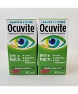Bausch Lomb Ocuvite Eye Multi Vitamins Mutivitamin Lutein 60ct Tablet Lot 06/21 - $58.04