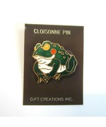 Green Frog Goldtone Metal Cloisonne Pin by Gift Creations Inc. - $8.99