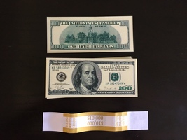 10.000 PROP MONEY REPLICA 100s Style: Series 2000 Full Print For Movie Video Etc - $22.99