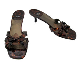 Stuart Weitzman Tortoise Patent Leather Sandals size 8 B - $48.00