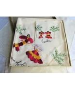 1940s Vintage Dresser Scarf Boxed Set Red & Gold Embroidery Salsa Dancer... - $35.99