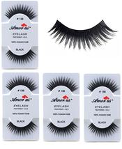6 Pairs AmorUs 100% Human Hair False Long Eyelashes # 138 compare Red Ch... - $8.90