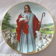 Franklin Mint THE LORD IS MY SHEPHERD Plate Heirloom Collection Jesus La... - $19.00