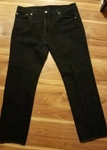 Men's Black Levi 501 Button-Fly Jeans Size 40 X 32   - $27.07