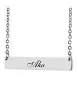Custom Any Name Bar Necklace Christmas Mother Day Gift for Aka - $9.99+