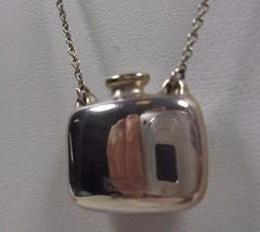 """Tiffany & Co Elsa Peretti Mini Perfume Bottle Necklace 25"""" Sterling Silver - $301.19"""