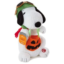 Peanuts Trick or Treat Flying Ace Snoopy Hallmark Animated Halloween Plu... - £33.39 GBP