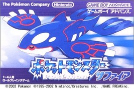 POKEMON SAPPHIRE Pocket Monsters Game Boy Advance Nintendo JAPAN - $37.91