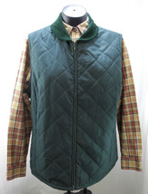 Talbots Forest Green Quilted Corduroy Collar Zip Front Vest - Women's Si... - $18.95