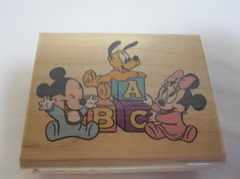 Disney Rubber Stampede Playtime Babies Rubber Stamp Mickey Minnie Pluto ... - $6.88