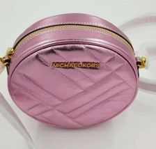Michael Kors Bnwt Vivianne Pink Leather Crossbody Purse Leather Designer - $155.71