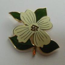Designer Cloisonne Enamel Floral Brooch Fish & Crown Makers Mark - $24.74