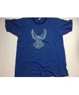 Vintage Russell Athletic BLUE Harley Davidson T-Shirt Large Men's 42-44 ... - $85.45