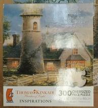 Thomas Kinkade [A Light in the Storm] Jigsaw Puzzle 300 Oversized Pcs Lighthouse - $17.81