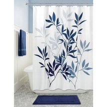 """InterDesign Leaves Fabric Polyester Shower Curtain for Bathroom, 72"""" x 7... - $35.88"""
