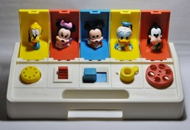 Vintage 1980 Poppin Pals Pop Up Toy Playskool Disney Mickey Goofy Daffy 0220!!! - $21.29