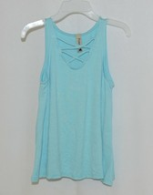 Pomelo Sky Blue Tunic Top Sleeveless Summer Top Girls Size Extra Small image 1
