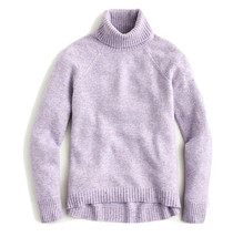 NEW JCrew Women's Supersoft Yarn Turtleneck Sweater Lavender Size XS NWT - $65.44